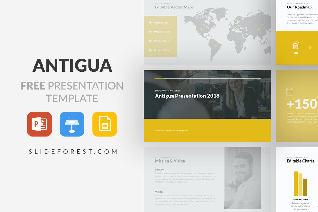 Antigua Free Presentation Template - Presentation Templates on Slideforest