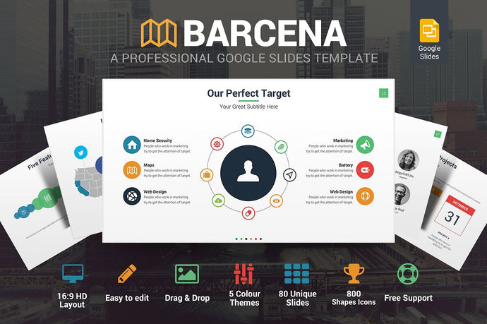 Barcena Google Slides Template - Presentation Templates on Slideforest