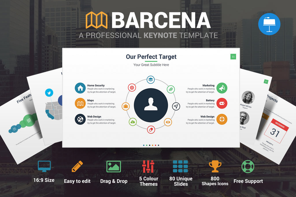 Barcena Keynote Template - Presentation Templates on Slideforest