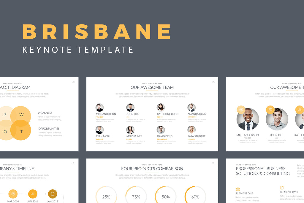 Brisbane Keynote Template