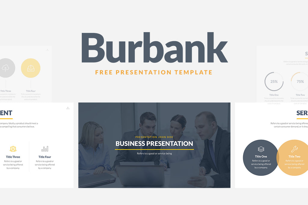 Burbank Free Business Proposal Presentation Template