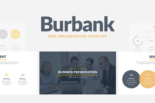 Burbank Free Business Proposal Presentation Template - Presentation Templates on Slideforest