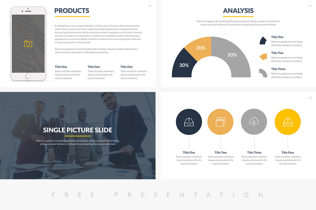 burbank free business proposal presentation template on slideforest