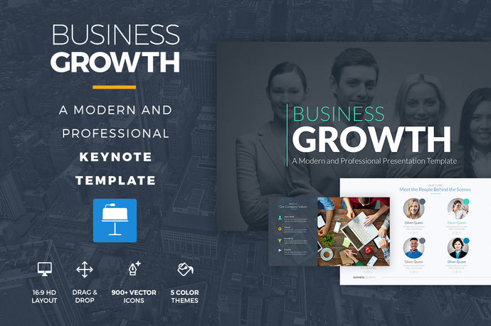 Business Growth Keynote Template - Presentation Templates on Slideforest