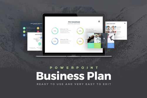 Business Plan PowerPoint Template - Presentation Templates on Slideforest
