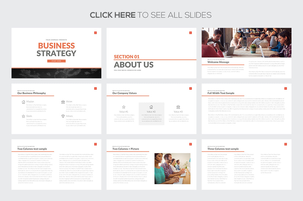 Business Strategy Keynote Template - Presentation Templates on Slideforest