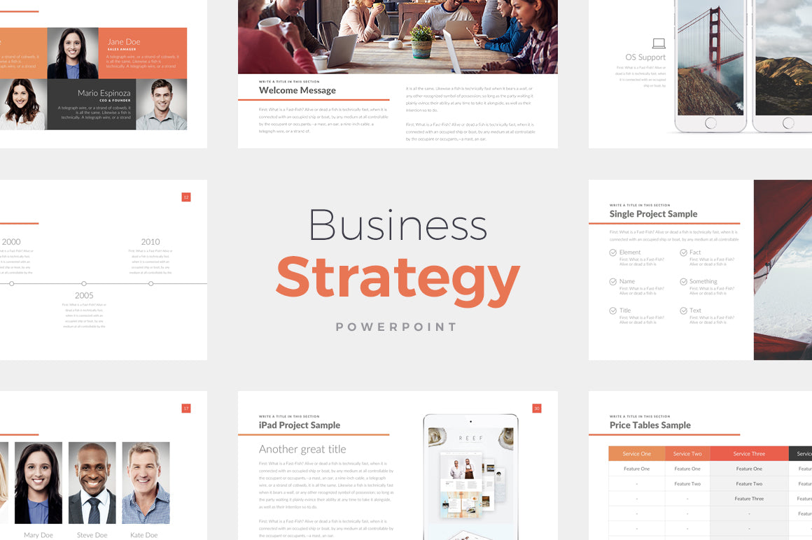Business Strategy Powerpoint Template Slideforest