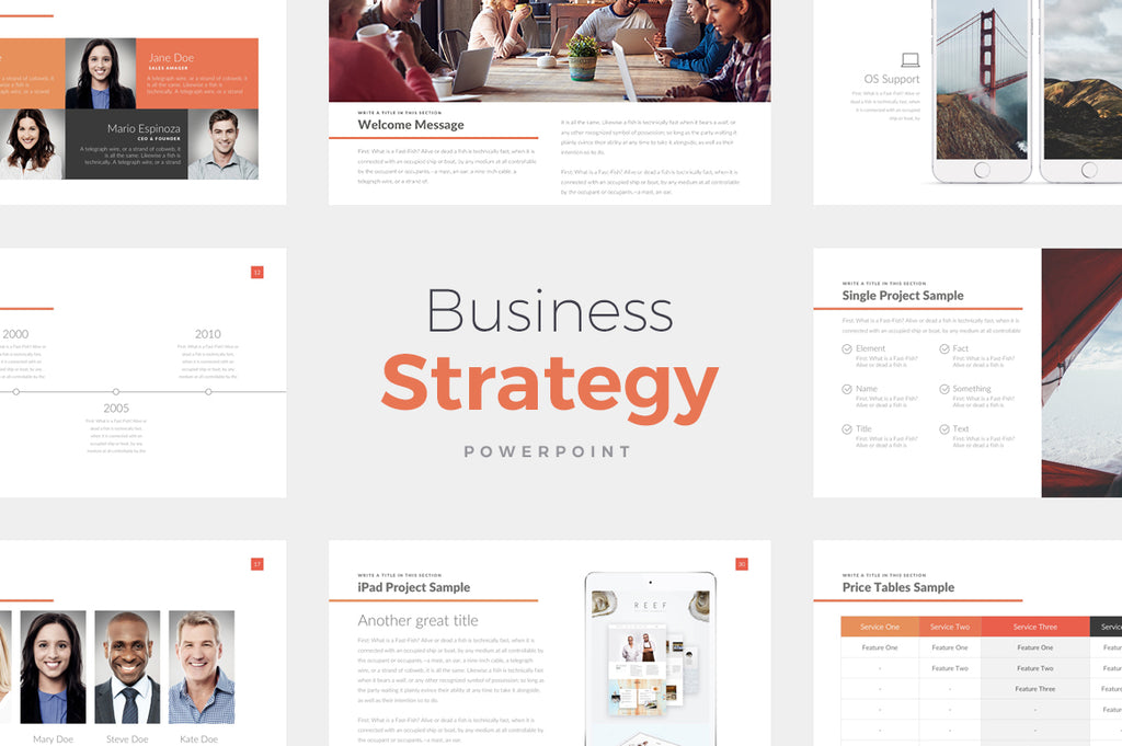 Business Strategy PowerPoint Template - Presentation Templates on Slideforest