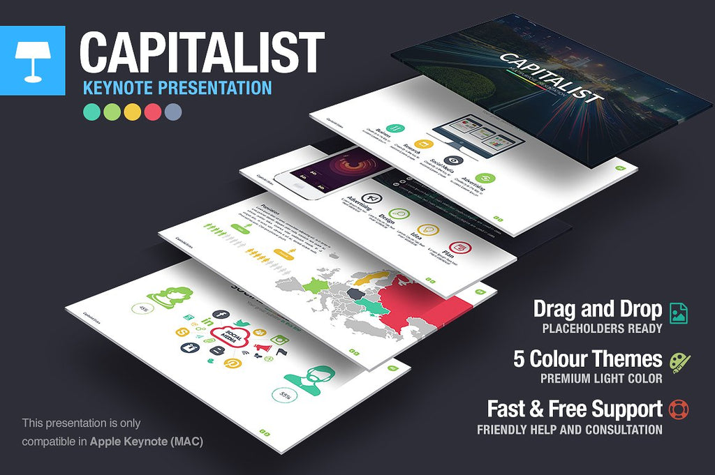 Capitalist Keynote Template - Presentation Templates on Slideforest
