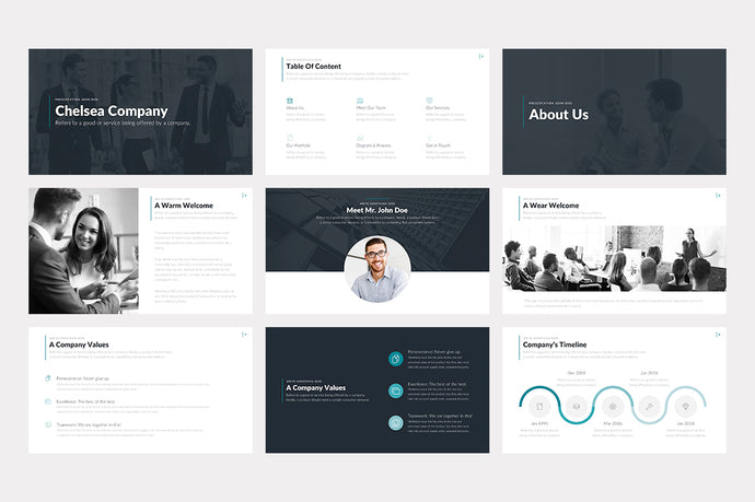 Chelsea PowerPoint Template - Presentation Templates on Slideforest
