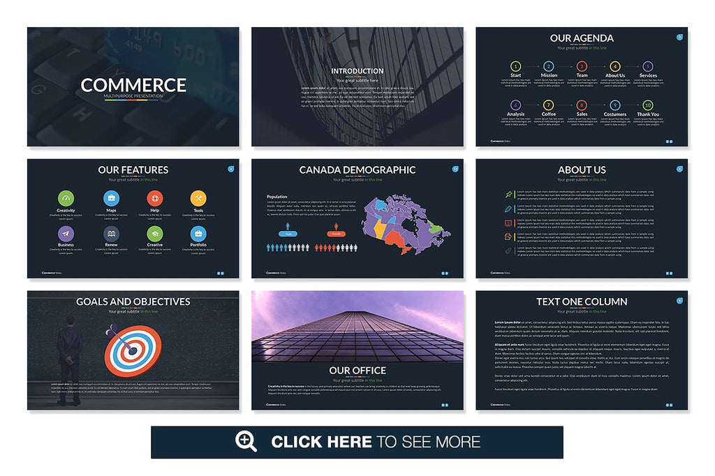 Commerce Keynote Template - Presentation Templates on Slideforest