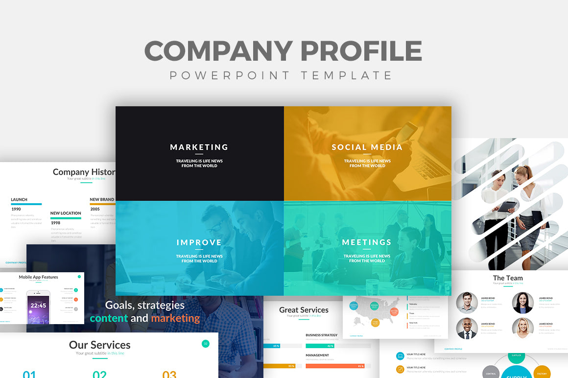 Company Profile Powerpoint Template Slideforest
