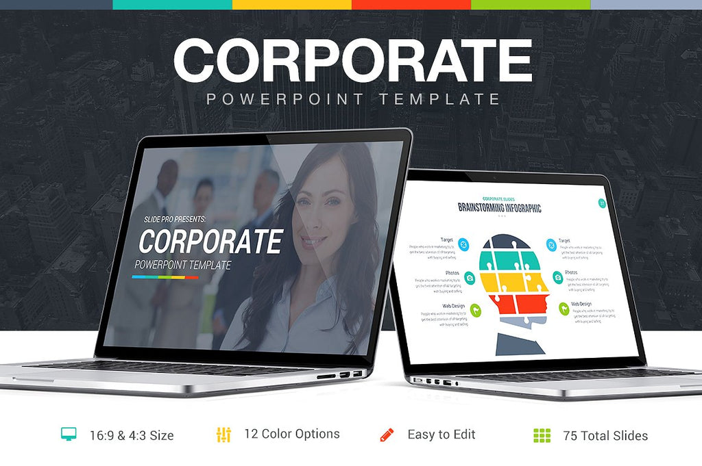 Corporate PowerPoint Template - Presentation Templates on Slideforest