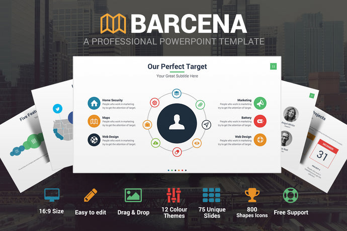 Barcena Powerpoint Template - Presentation Templates on Slideforest