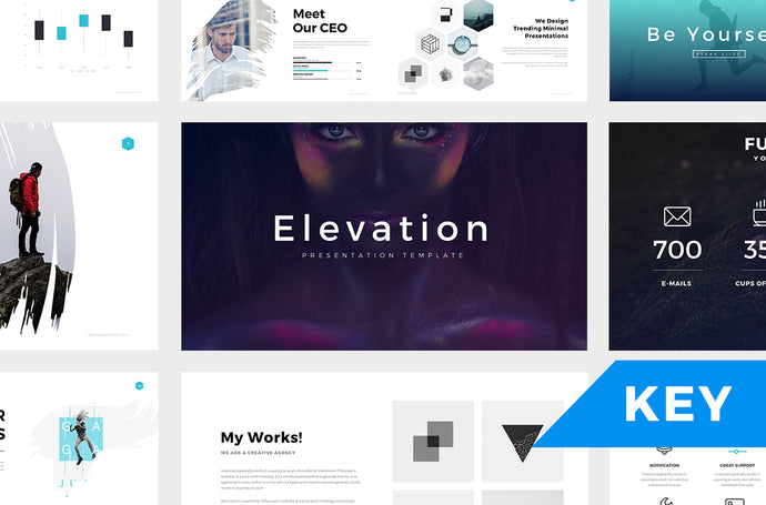 Elevation Minimal Keynote Template - Presentation Templates on Slideforest