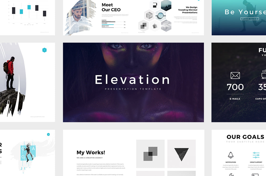 Elevation Minimal Powerpoint Template
