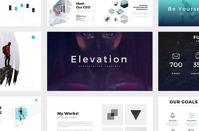 Elevation Minimal Powerpoint Template - Presentation Templates on Slideforest