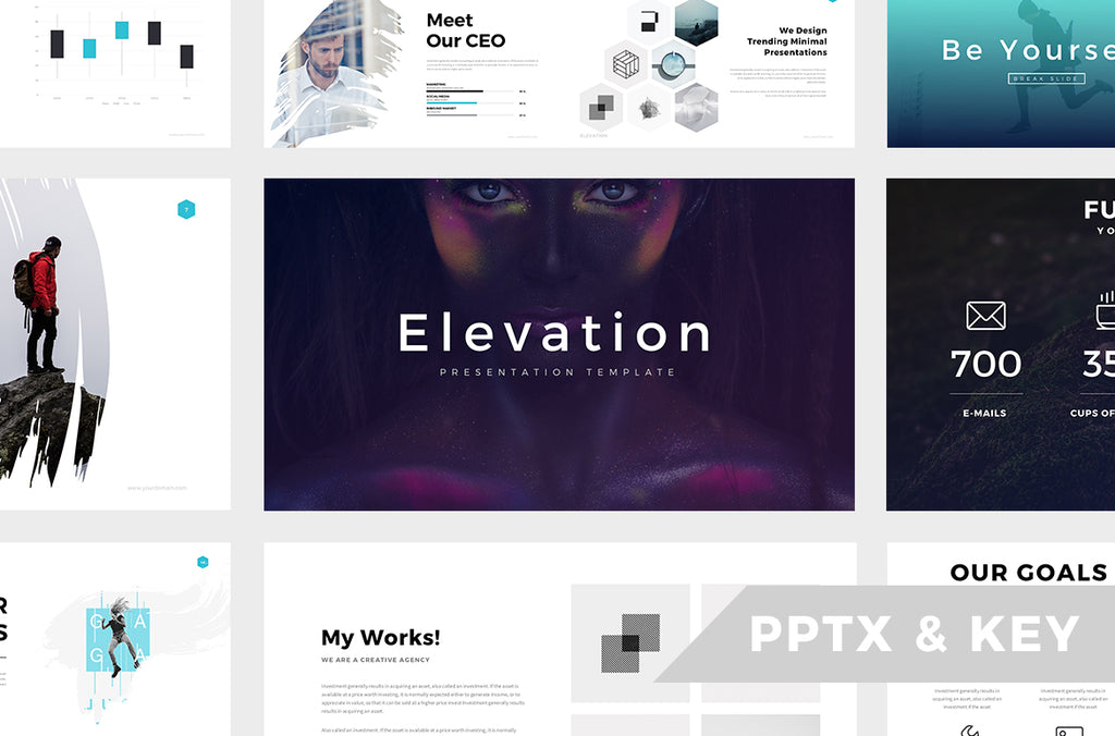 Minimal PRO Presentations Bundle Powerpoint + Keynote - Presentation Templates on Slideforest
