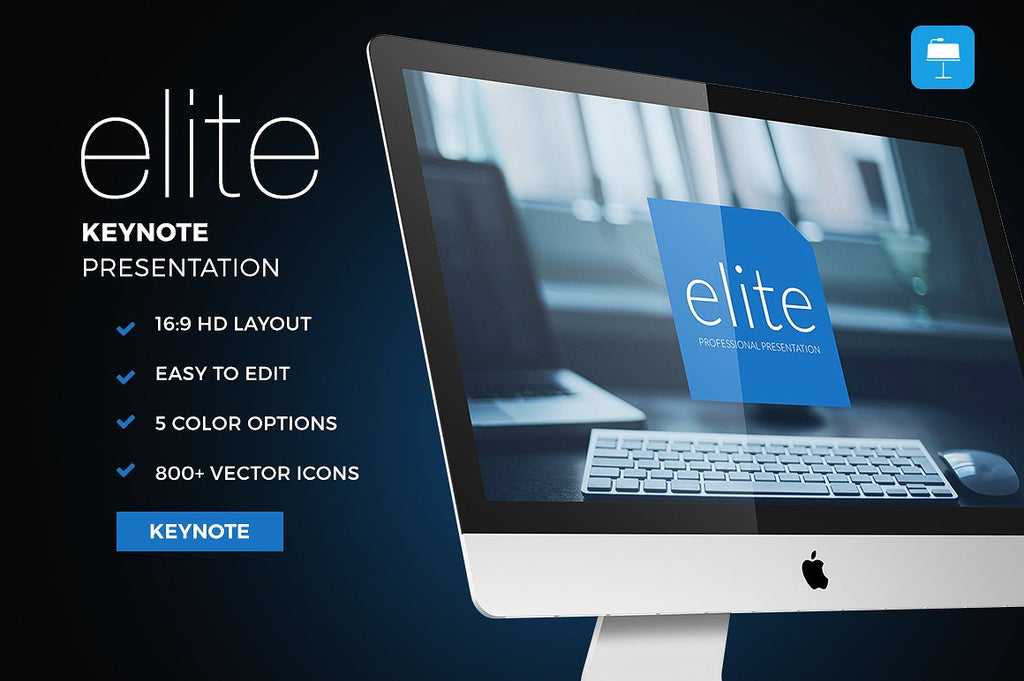 Elite Keynote Template - Presentation Templates on Slideforest