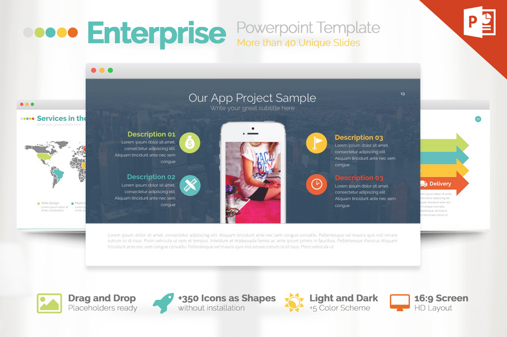 Enterprise Pitch Deck Powerpoint Template - Presentation Templates on Slideforest