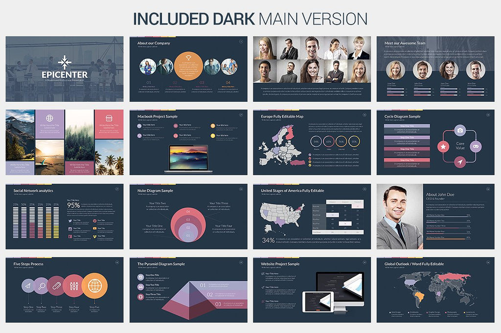 Epicenter PowerPoint Template - Presentation Templates on Slideforest