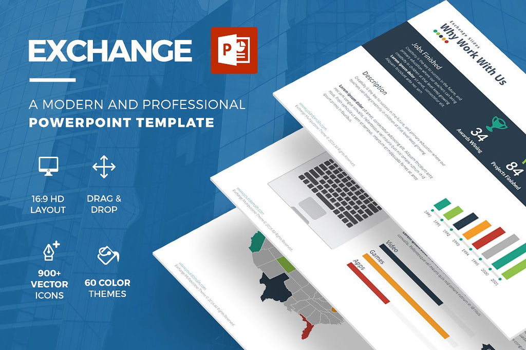 Exchange Powerpoint Template - Presentation Templates on Slideforest