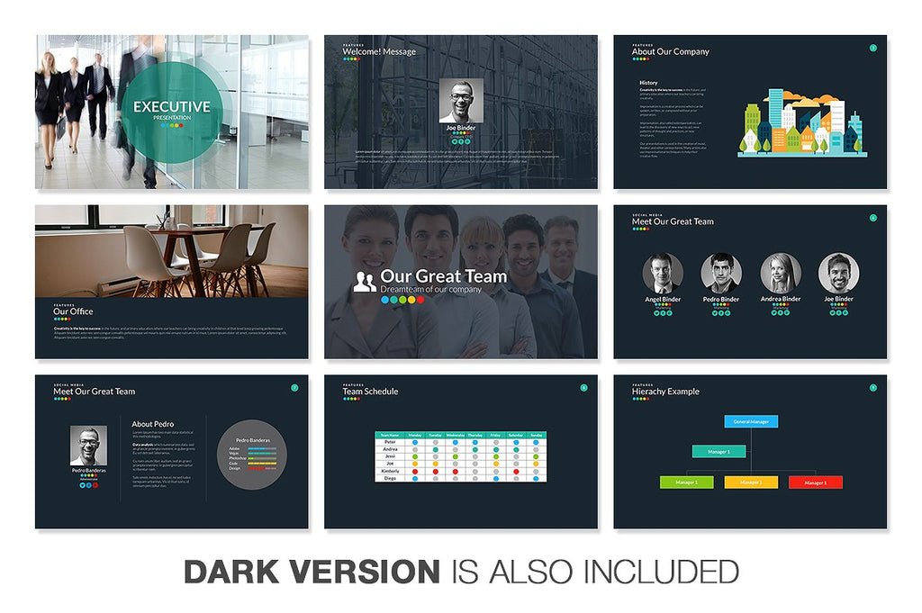 Executive Powerpoint Template - Presentation Templates on Slideforest