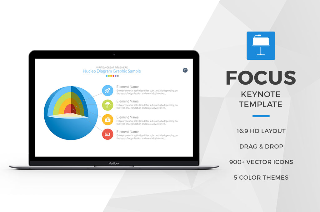 Focus Keynote Template - Presentation Templates on Slideforest