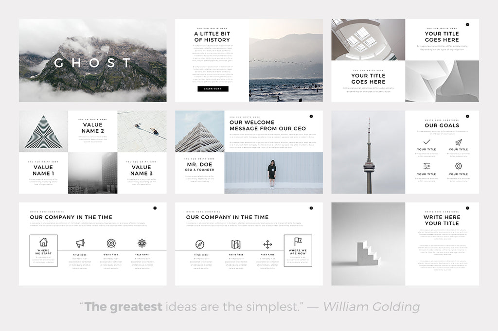 Ghost Minimal Keynote Template