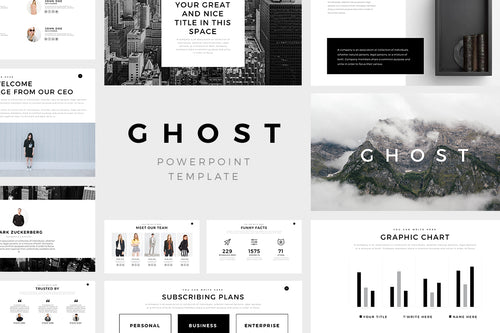 600 infographics powerpoint keynote presentations on slideforest ghost minimal powerpoint template presentation templates on slideforest toneelgroepblik Choice Image