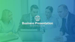 Gradient Free Business Presentation Template - Presentation Templates on Slideforest