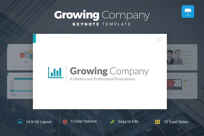 Growing Company Keynote Template - Presentation Templates on Slideforest