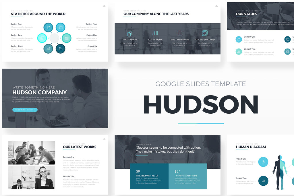Hudson Google Slides Template