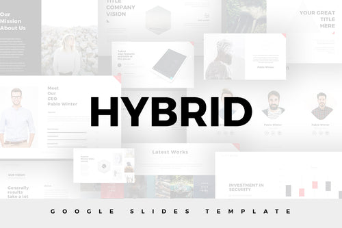 Hybrid Minimal Google Slides Template - Presentation Templates on Slideforest