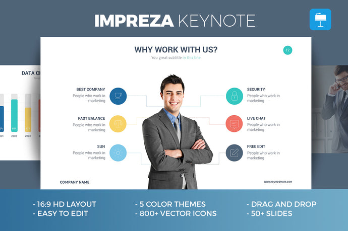 Impreza Keynote Template - Presentation Templates on Slideforest