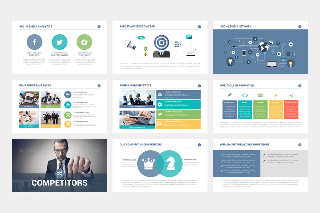 Investor Pitch Deck Powerpoint Template - Presentation Templates on Slideforest