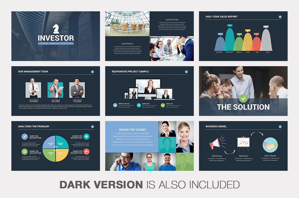 Investor Pitch Deck Keynote Template