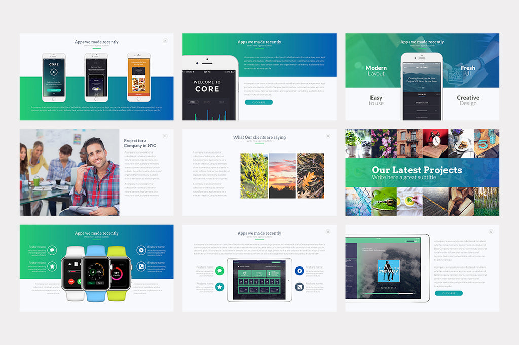 Landmark Keynote Template - Presentation Templates on Slideforest