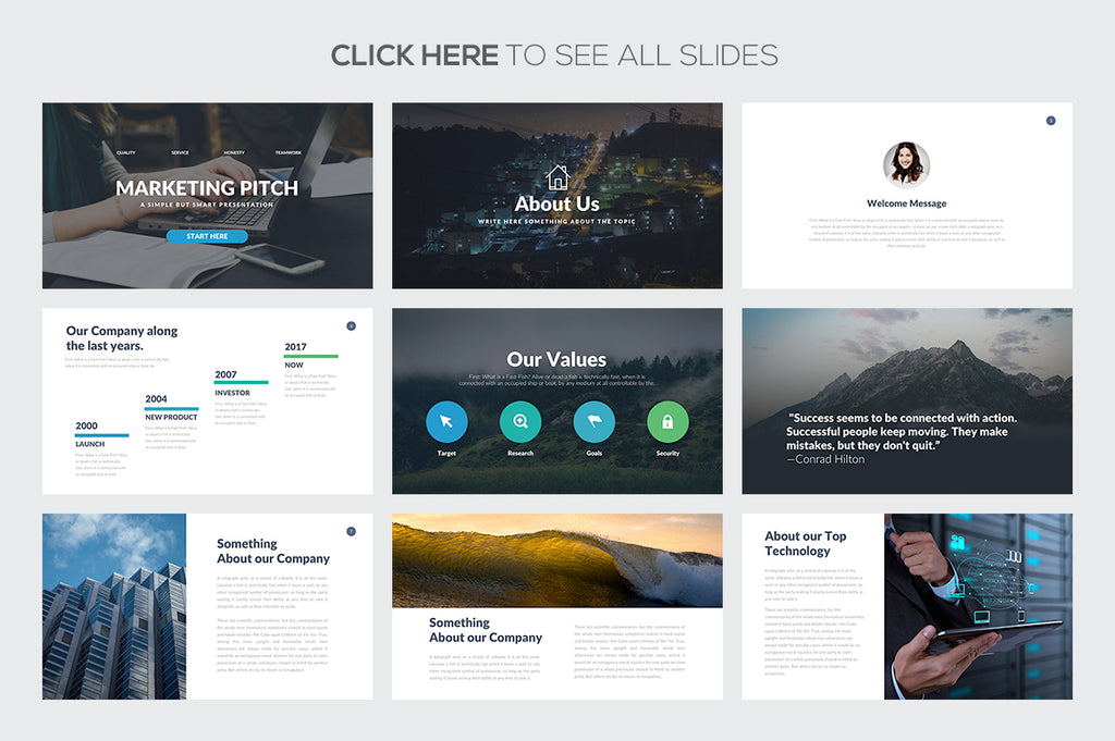 Marketing Pitch Deck Google Slides Template - Presentation Templates on Slideforest