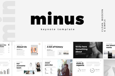Minus Minimal Keynote Template - Presentation Templates on Slideforest
