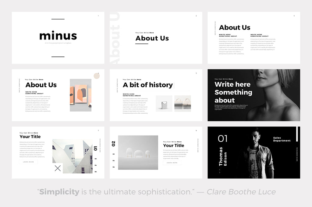 Minus Minimal Powerpoint Template - Presentation Templates on Slideforest