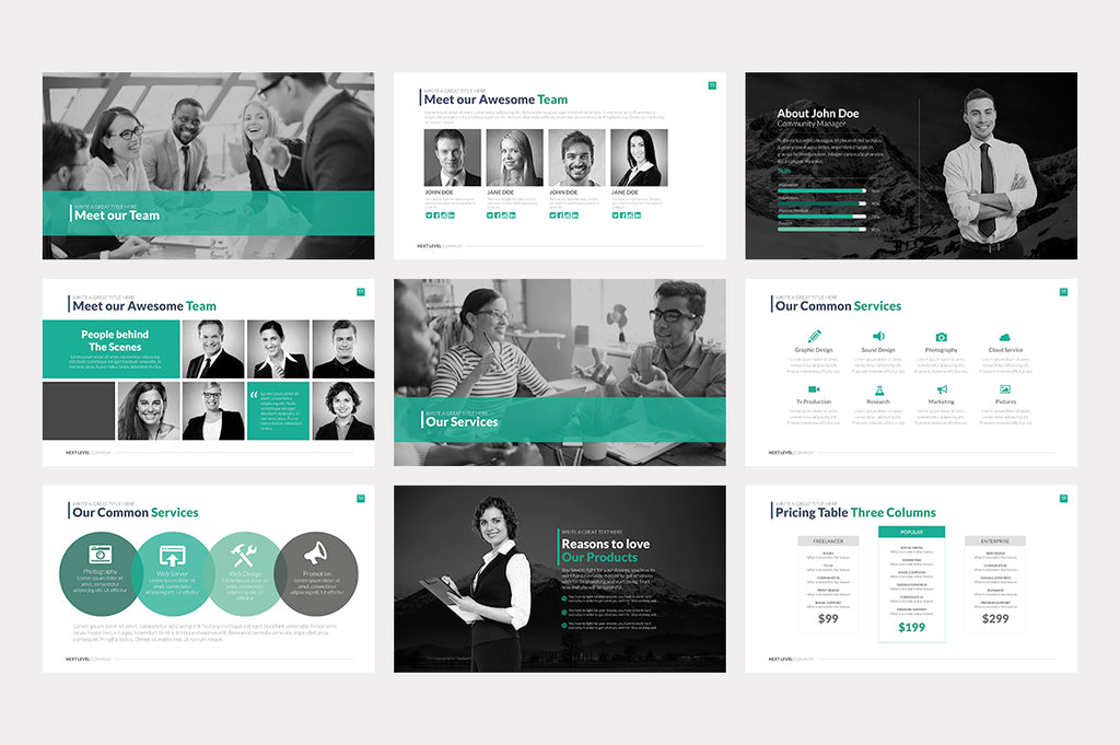 Next Level Powerpoint Template - Presentation Templates on Slideforest