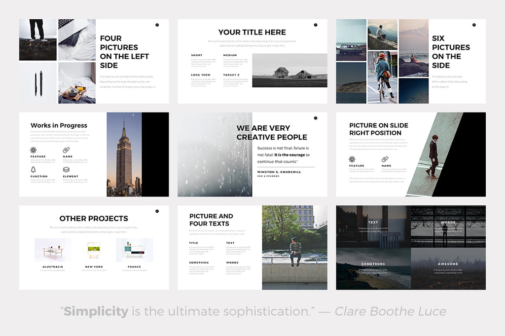 nova minimal powerpoint template - presentations on slideforest, Powerpoint templates