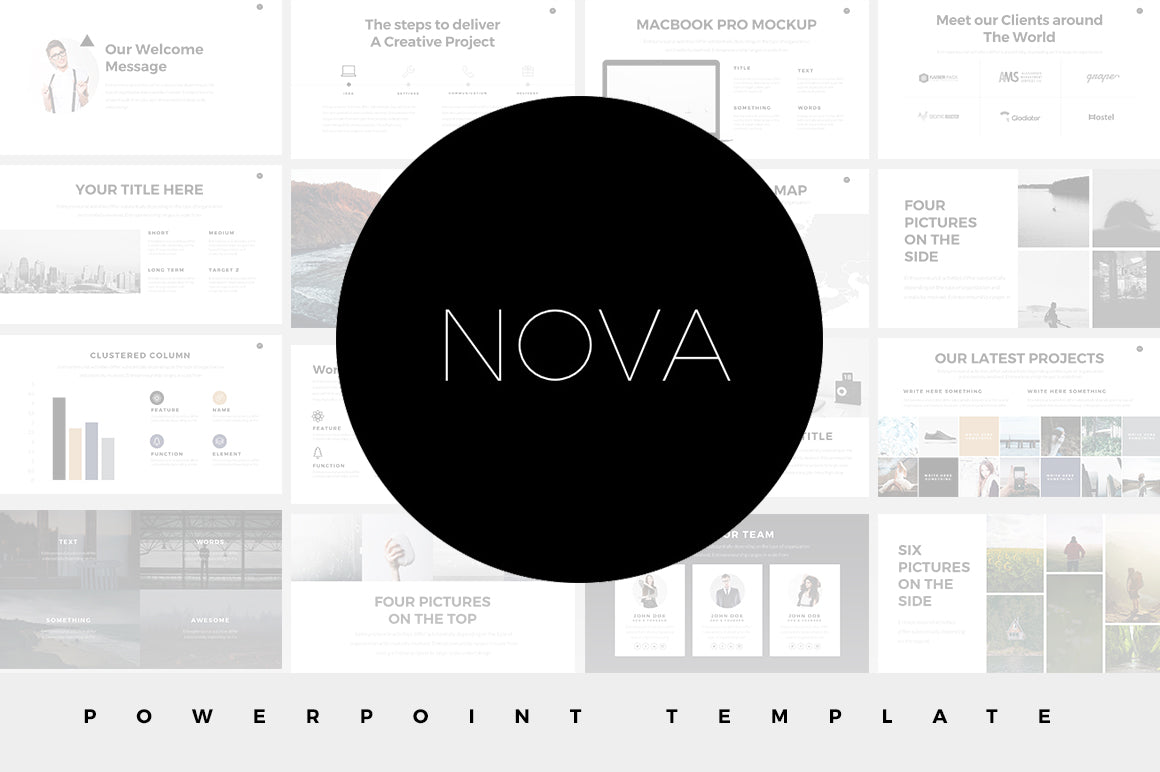 Nova Minimal Powerpoint Template Slideforest