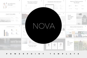 Nova Minimal Powerpoint Template - Presentation Templates on Slideforest