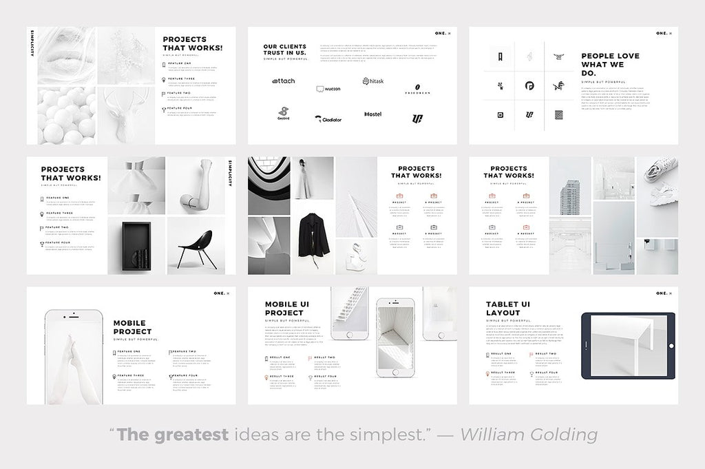 ONE. Minimal Google Slides Template