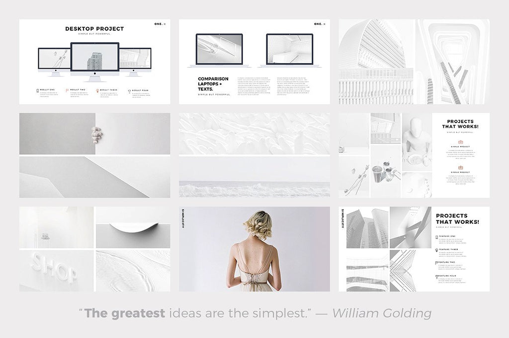 ONE. Minimal Keynote Template