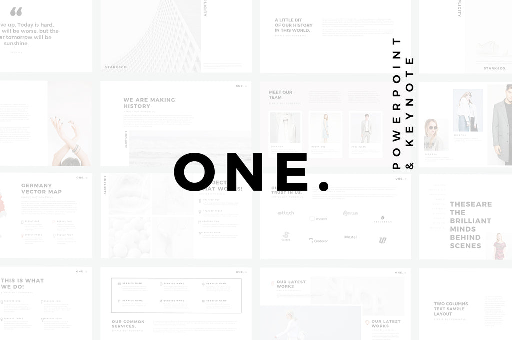 Minimal PRO Presentations Bundle Powerpoint + Keynote