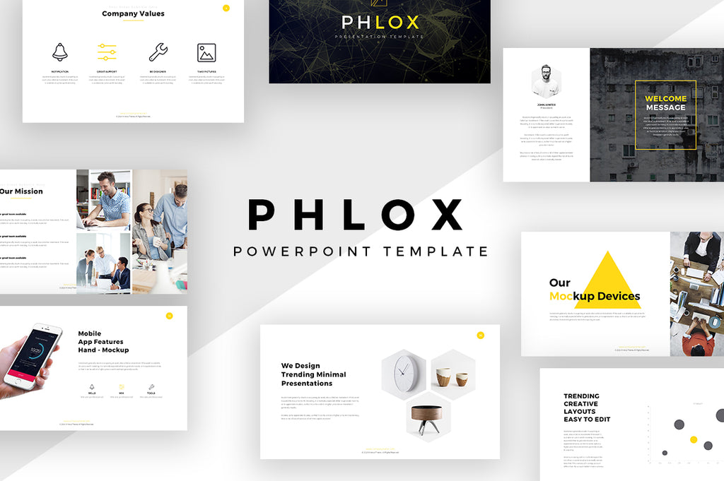 Phlox Minimal PowerPoint Template - Presentation Templates on Slideforest