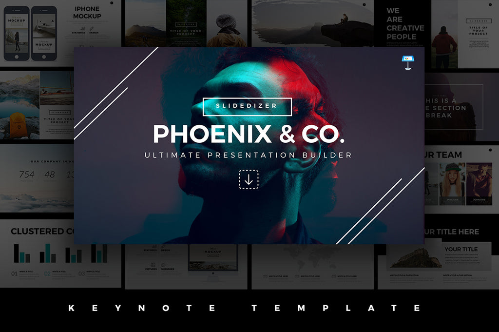Phoenix Minimal Keynote Template - Presentation Templates on Slideforest